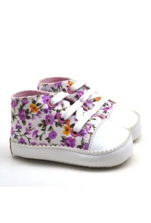 İlk Adım Yumuşak Tabanlı Çiçekli Bebek Ayakkabı Patik