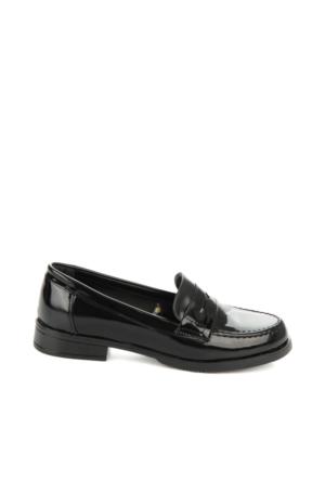 Bambi Bayan Siyah Açma Loafer Ayakkabı