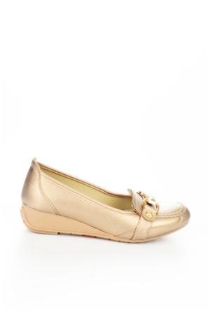 Bambi Bayan Altın Cilt Ayakkabı