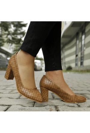 İnce Topuk Vizon Kalın Topuklu Stiletto
