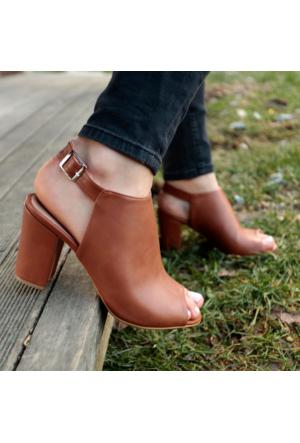 İnce Topuk Taba Topuklu Ayakkabı