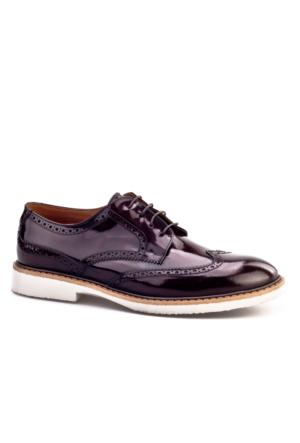Cabani Bağcıklı Günlük Erkek Ayakkabı Bordo Açma Deri