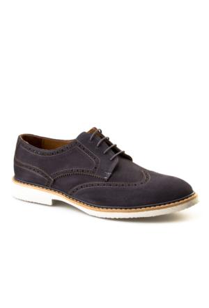 Cabani Bağcıklı Günlük Erkek Ayakkabı Gri Süet