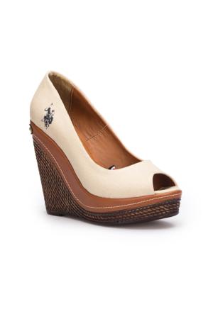 U.S. Polo Assn. Legend Bej Kadın Sandalet