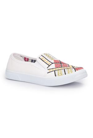 Polaris 71.354909.Z Beyaz Kadın Ayakkabı