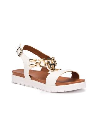 Polaris 71.508160.F Beyaz Kız Çocuk Sandalet