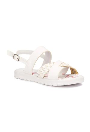 Polaris 71.509109.F Beyaz Kız Çocuk Sandalet