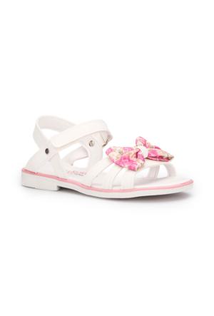 Pink Step Sarah Beyaz Kız Çocuk Sandalet
