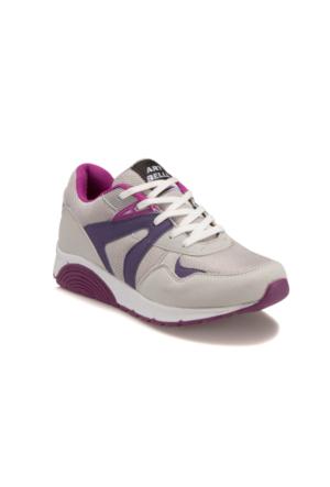 Art Bella Gns20 Gri Mor Kadın Sneaker Ayakkabı