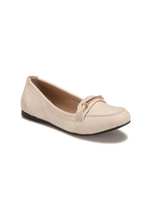 Miss F Ds17035 Krem Kadın Loafer Ayakkabı