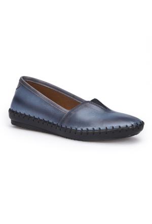 Polaris 71.108870.Z Mavi Kadın Deri Ayakkabı