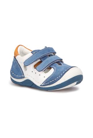 Polaris 71.509000.I Mavi Erkek Çocuk Deri Ayakkabı 516