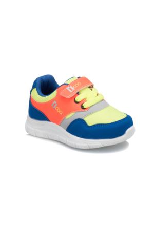 I Cool Colored Saks Turuncu Gri Erkek Çocuk Sneaker Ayakkabı
