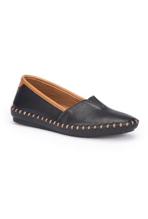 Polaris 71.108870.Z Siyah Kadın Deri Ayakkabı