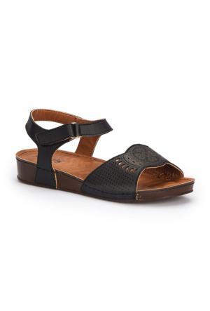 Polaris 71.157373.Z Siyah Kadın Sandalet