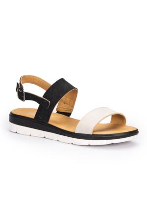 Polaris 71.157385.Z Siyah Kadın Sandalet
