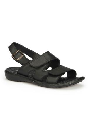 Polaris 71.157730.M Siyah Erkek Sandalet