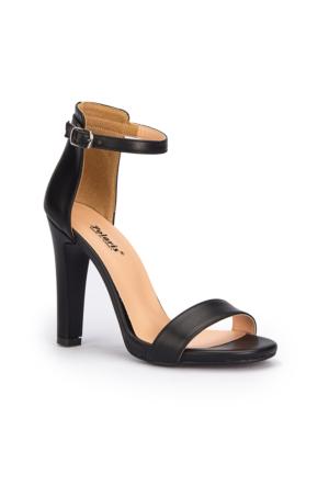 Polaris 71.309904.Z Siyah Kadın Sandalet