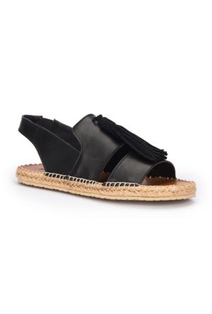 Polaris 71.310190.Z Siyah Kadın Sandalet