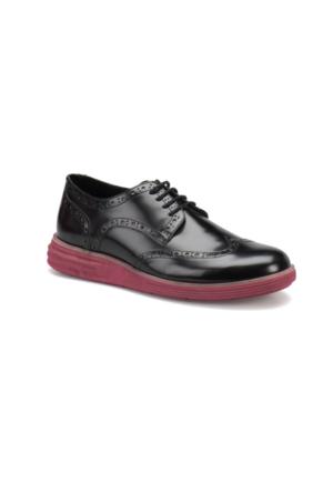 JJ-Stiller 61123-1 M 6693 Siyah Bordo Erkek Modern Ayakkabı