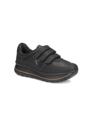 Kinetix Paulet Siyah Siyah Kadın Ayakkabı