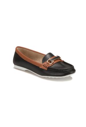 Miss F F18010 Siyah Kadın Loafer Ayakkabı