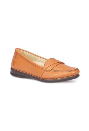 Polaris 5 Nokta 71.108023.Z Taba Kadın Deri Ayakkabı