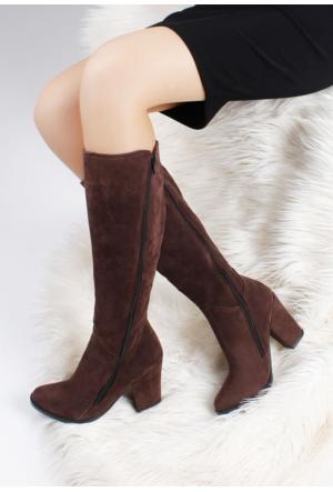 Erbilden Erb Kahverengi Kadın Topuklu Çizme