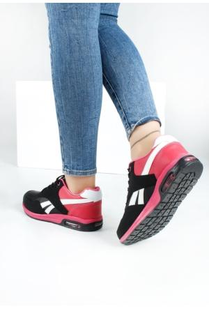 Erbilden Akk Siyah Pembe Kadın Spor Ayakkabı