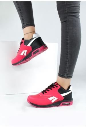 Erbilden Akk Pembe Siyah Kadın Spor Ayakkabı