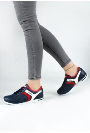Erbilden Akk Lacivert Cilt Desenli Kadın Spor Ayakkabı