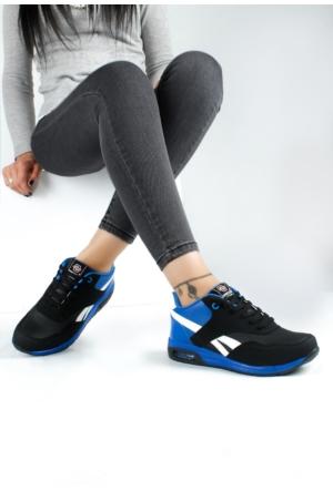 Erbilden Akk Siyah Mavi Kadın Spor Ayakkabı