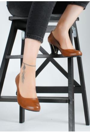 Erbilden Erb Taba Kadın Kısa Topuk Ayakkabı