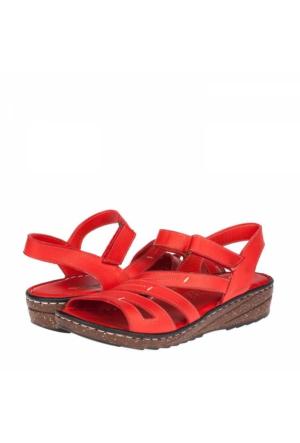 Flor Kadın Hakiki Deri Sandalet
