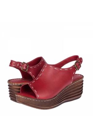 Flor Kadın Dolgu Topuklu Sandalet