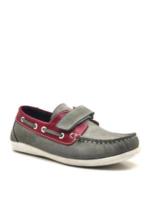 Raker® Hakiki Deri Cırtlı Erkek Çocuk Ayakkabısı