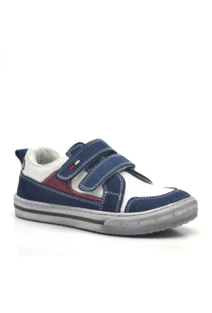 Raker® Hakiki Deri Cırtlı Erkek Çocuk Spor Ayakkabısı