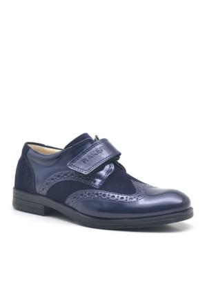 Raker® Lacivert Rugan Cırt Cırtlı Klasik Erkek Çocuk Ayakkabısı