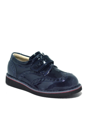 Raker® Lacivert Rugan Cırtlı Erkek Bebek Ayakkabısı