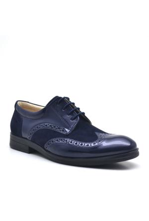 Raker® Lacivert Rugan Klasik Erkek Çocuk Ayakkabısı