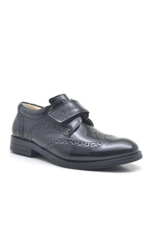Raker® Siyah Rugan Klasik Erkek Çocuk Okul Sünnet Ayakkabısı