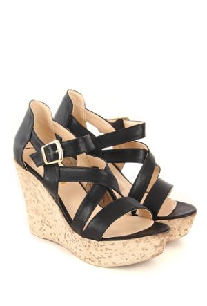 Gön Kadın Sandalet 36057 Siyah