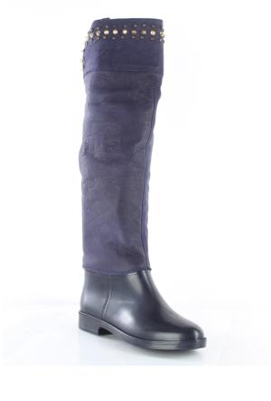 Shaka Kadın Çizme 34060 Lacivert Antik