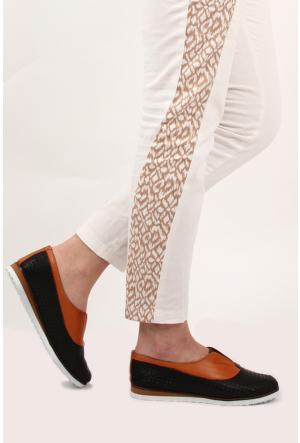 Gön Deri Kadın Ayakkabı 35705 Taba