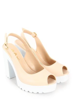 Gön Kadın Sandalet 36131 Bej