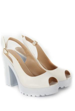 Gön Kadın Sandalet 36131 Beyaz