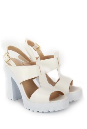 Gön Kadın Sandalet 36133 Beyaz