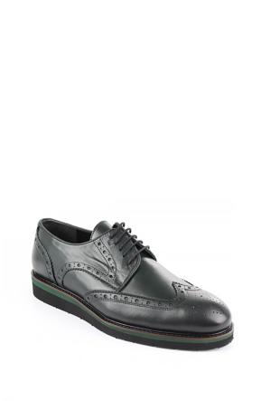 Gön 88131 Haki Antik Deri Erkek Ayakkabı