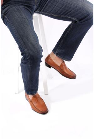 Gön 88585 Taba Antik Deri Erkek Ayakkabı