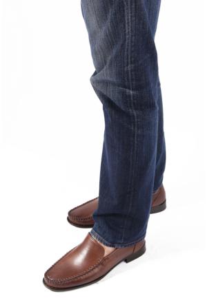 Gön 88586 Vizon Antik Deri Erkek Ayakkabı